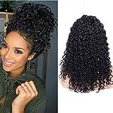 Maxine - Peluca de pelo humano de 180 % de densidad para mujeres negras, pelo virgen...