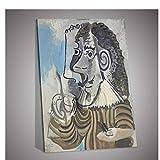 Gigoo Art Pablo Ruiz Picasso Posters de Arte Pintura al óleo sobre Lienzo Pinturas de Arte Abstracto Hechas a Mano para decoración de Pared Impresión en Lienzo 50x60cm sin Marco