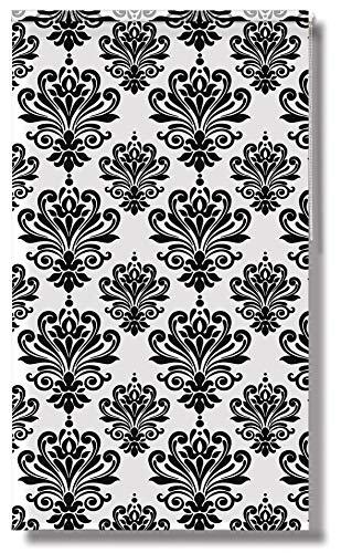 Acus Duschrollo Ornament | BxH 140x240cm | schwarz weiß | Duschvorhang | Badezimmer |