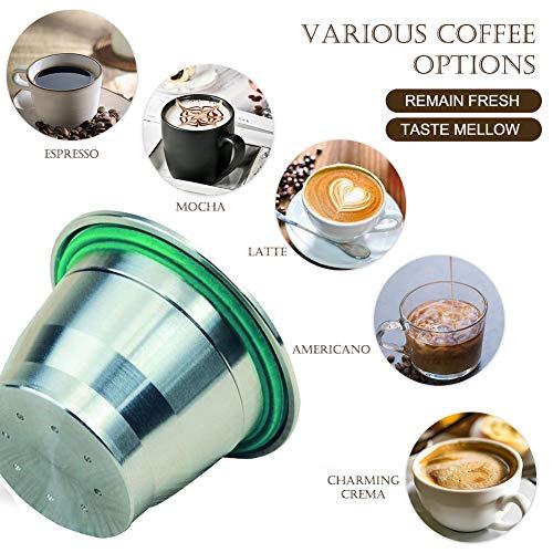 Kaffeekapsel Edelstahl nachfüllbar Nespresso Kaffeekapsel Metall nachfüllbar Nespresso-Kapseln wiederverwendbar Nespresso-Kapsel jahrelang Small A4-1 Pod