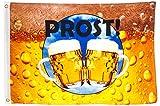 Brubaker Hissflagge 'Prost!' Fahne mit Bier-Motiv 60 x 90 cm