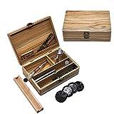 Scatola portautensili in legno con serratura ermetica, cassetta degli attrezzi per nascondere il legno, universale, per fumare scatole rotanti