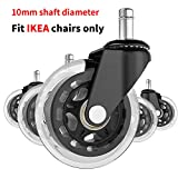 10mm Office Chair Caster Wheels - Fit for IKEA Only Set of 5