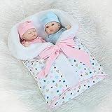 ZXYMUU Reborn Baby Muñecas Twin Baby Mini Palms Baby Doll Baby Doll Simulación Creativa Personalidad...