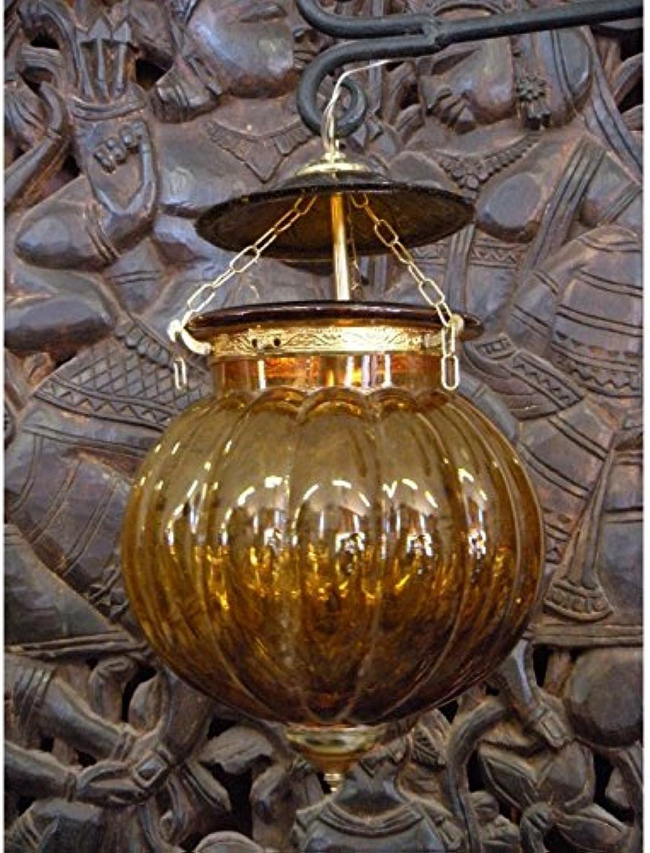 Int. d'ailleurs - KHARBUJA Lampenglas gelb 22x22 cm Soufle - LAMP007