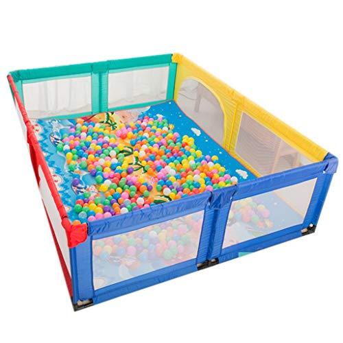 Laufgitter laufstall Extra großer Laufgitter, faltbarer Kinderspielplatz für Kinder, Sicherheitsgarderobe für Zuhause, Zaun für den Innenbereich, Anti-Fall-Spielstift für 2 Babys, einschließlich Bälle