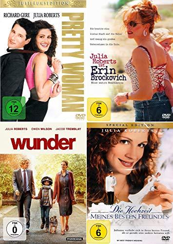 Julia Roberts 4-Filme Collection: Pretty Woman + Wunder + Die Hochzeit meines besten Freundes + Erin Brockovich - Eine wahre Geschichte [4er DVD-Set]