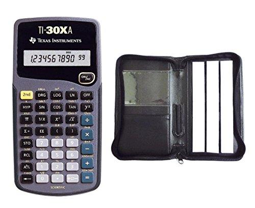 Texas Instruments TI-30 XA Paket 1 + Kunstleder-Schutztasche