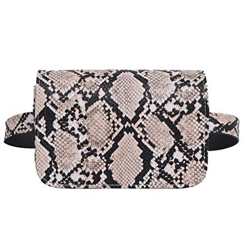 LILIHOT Da Ke Fashion Lady Schlangen Schulter Diagonal Schultertasche Frauen im Freien Haspe Serpentine Messenger Bag Tasche Gürteltasche Mode Frauen Perle Leder Umhängetasche Münztüte Handytasche