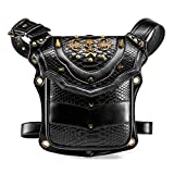 Practical steampunk bags for women leather Waistbag Punk man tether chest bag motorcycle leg bag Travel Utility Belt