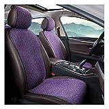 WEIWEIMITE Cojines De Asiento De Automóvil para Conducir, Cojín De Cintura Pequeña Lino Frax Pad Respirable Anti-Sucio Four Seasons, Color: Marrón (Color : Purple, Size : B)