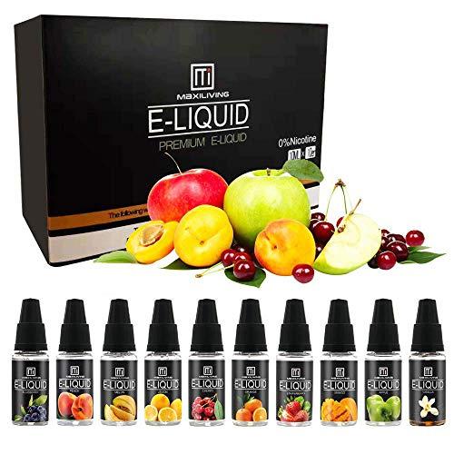 E Liquid,Vape Liquid Juice 10 Pack (10pc x10ml) 70VG/30PG E Cigarettes...