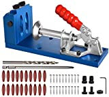 Pocket Hole Jig Kit Dowel Drill Joinery Screw Kit All-In-One Aluminum System Set Jig Wood Woodwork Guides Joint Angle Tool Carpentry Locato