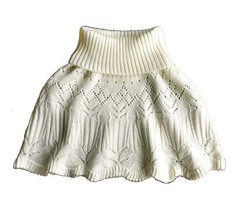Cheerlife Mädchen Damen Wollstrickkragen Warmer Schal mit hohem Kragen Poncho Pullover Strick Cape Umhang Sweater Strickpullover Rollkragen Gefälschter Kragen Beige