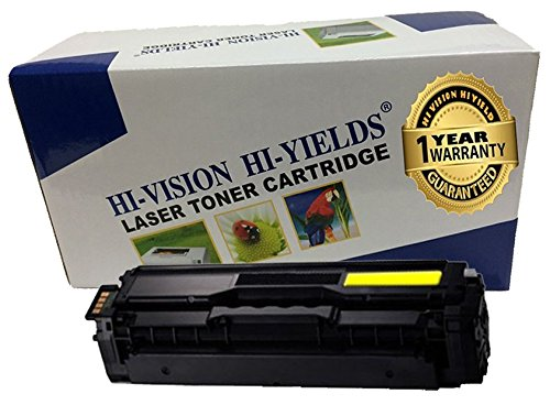 HI-VISION HI-YIELDS Compatible Toner Cartridge Replacement for Samsung CLT-Y504S (Yellow)