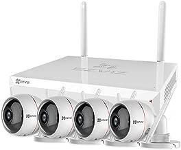 EZVIZ Outdoor Surveillance System 4 FHD 1080p Weatherproof Wi-Fi(2.4G Only) Security Cameras Strobe Light&Siren 100ft Night Vision DC Power Two Way Audio 8 Channel 1TB NVR Storage X5C-8(8CH+4 Cam)