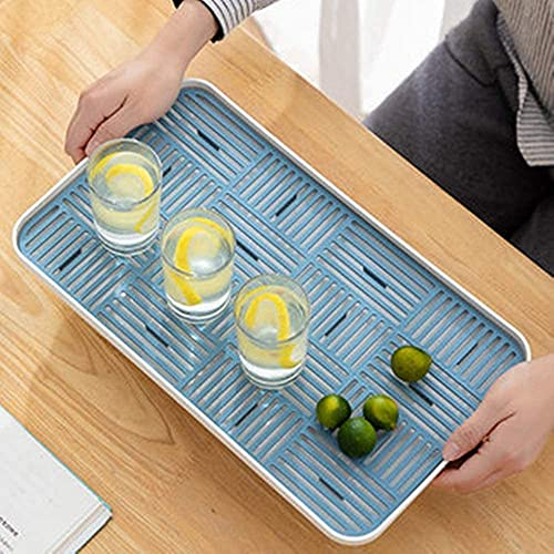 Daily Accessories Decorative Tray Household Gap Tray Kitchen Coffee Table Home Decoration Breakfast Tray (Color : Pink Size : 39.2x22.2x2.7cm)