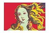 Poster, Motiv: Andy Warhol, Geburt der Venus, rot, 70 x 100