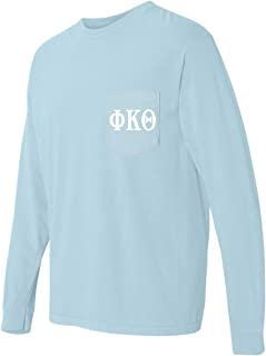 Print Bar AZ Phi Kappa Theta Fraternity Comfort Colors Pocket Long Sleeve Shirt