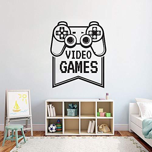 Juego de pared calcomanía juego video arte pared pegatina decoración del hogar video niño dormitorio decoración patrón