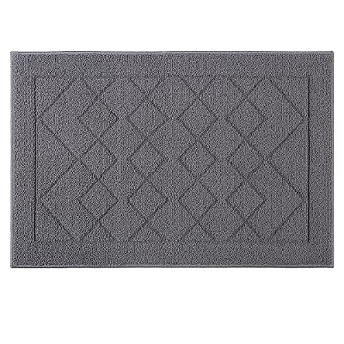 """Indoor Doormat Absorbent Front Door Mat Rubber Backing Non Slip Door Mats Inside Dirt Trapper Mats Entrance Front Door Rug Shoes Mat Machine Washable Carpet - 24""""x 36"""", Grey"""
