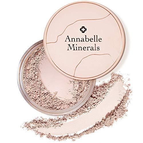 Annabelle Minerals - Matte Mineral Foundation mit Lichtschutzfaktor - Natürliche Inhaltsstoffe - Matt - Glatte Haut & Natürlich - Sonnenschutz LSF10 - Für alle Hauttypen - Vegan - Natural Light - 10g