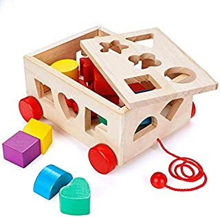 Mumoo Bear Shape Sorter Toy, Building Toys Children Educational Building Blocks Toys for Babies Early Educational Game Toy...