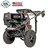 SIMPSON Cleaning PS4240 PowerShot Gas Pressure Washer Powered by Honda GX390, 4200 PSI at 4.0 GPM, Black