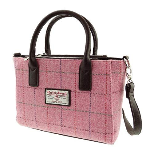 Glen Appin - Handbag - Harris Tweed Handbags - Pink Harris Tweed Brora Bag - Default Title