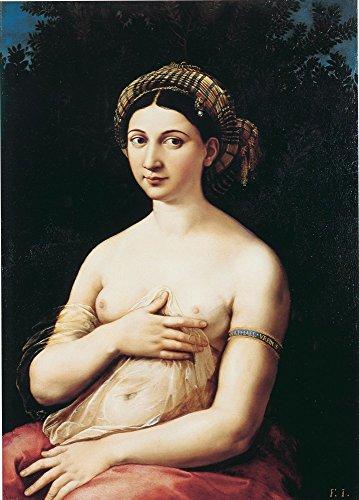 Das Museum Outlet–La Fornarina von Raffaello–Leinwanddruck Online kaufen (101,6x 127cm)