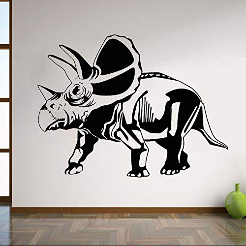 XCSJX Dinosaur wall stickers cartoon home decoration removable mural mural decals children children boys room kindergarten decoration 84x60cm