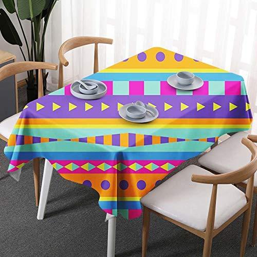 DJUX Mantel rectangular impreso mantel de la casa mantel de varios tamaños Mantel de tela de 145 x 250 cm 145 x 200 cm, 1, 90 x 90 cm