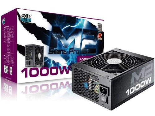 Cooler Master Silent Pro M2 Unidad de - Fuente de alimentación (1000 W, 90-264 V, 1200 W, 90%, 47-63 Hz, Activo)