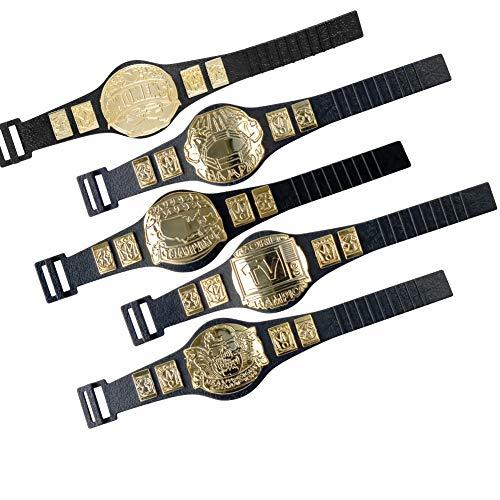 Set of 5 Championship Belts For WWE Wrestling Action Figures