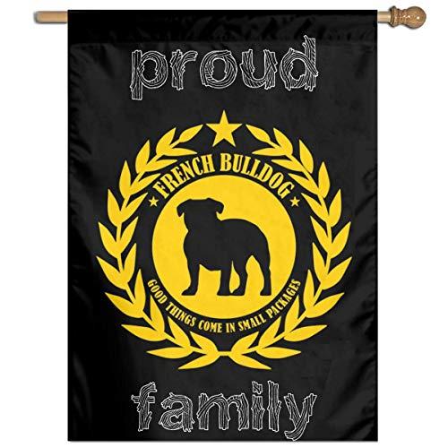 Tangry Proud French Bulldog Family Flag Garden Flag