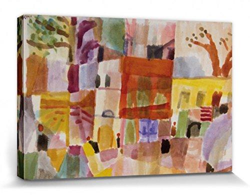 1art1 Paul Klee - Rote Und Gelbe Häuser In Tunis, 1914 Poster Leinwandbild Auf Keilrahmen 120 x 80...