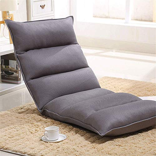 ZXCVB Folding Gaming Sofa Chair Lounger Folding Adjustable Sleeper Bed Couch Recliner (Gray) chair gaming gray