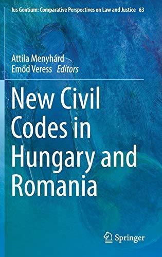New Civil Codes in Hungary and Romania PDF Books