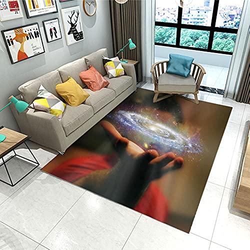 Kurzflor Wohnzimmer Teppich Home Moderner Teppich Halten Der Milchstraße, Hellbraun,Teppich Hochflor Weich Flauschig Für Wohnzimmer Schlafzimmer 120X170 cm