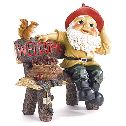 Home Locomotion Garden GNOME Greeting Sign