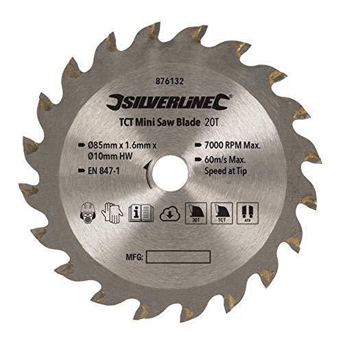 Silverline 876132 Disco de corte para mini sierra circular, Plata