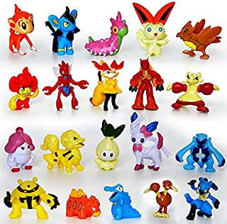 WOIA 24Pcs/Set Pocket Monster Vaporeon Kadabra Mewtwo Pearl Squirtle Action Figure Toys Collection Gift for Kids Party Decor -Multicolor Complete Series Merchandise