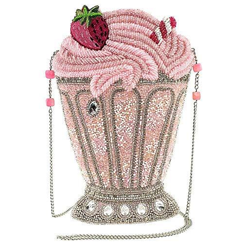 Mary Frances Shake It Up Beaded Crossbody Handbag, Pink