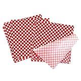 BoloShine 100 Feuilles Emballage de Cire d'abeille Papier de Cuisine de Qualité Alimentaire Résistant Graisse Écologique, Papier d'Emballage pour Sandwich, BBQ, Mets (10'' x 11'')