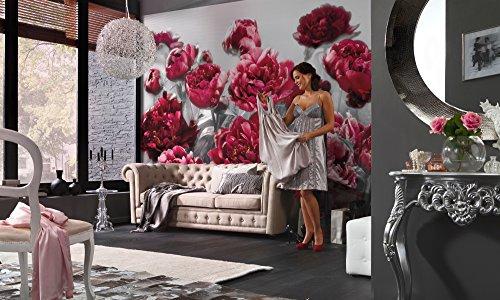 Komar Vlies Fototapete TEMPTATION | 368 x 248 cm | Tapete, Wand, Dekoration, Wandbelag, Wandbild, Wanddeko, Blume, Blüten | XXL4-002