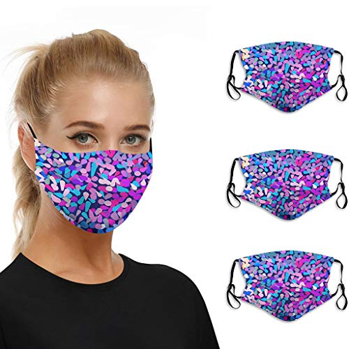 Aadiju 3/5/10pc Christmas Print Mouth Masks for Dust Protection Anti Face Mask Washable Earloop Mask