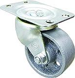 Shepherd Hardware 9174 Rueda giratoria de hierro fundido de 2 pulgadas, capacidad de carga de 120 libras