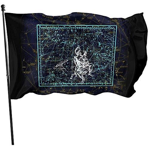 KDU Fashion Yard Flags,Amerikanische Fliege Brise Flagge - Sternbild Bunte Flagge Banner Für Haus Hinterhof Rasen 90x150cm
