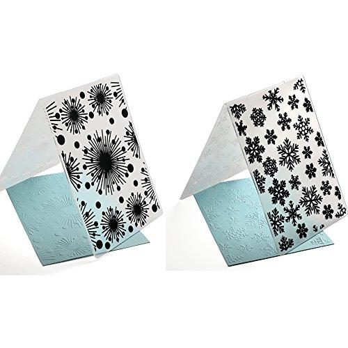 2PCS Plastic Embossing Folder Snow Christmas DIY Scrapbooking Photo Album Card Paper DIY Craft Decoration Template Mold Card Making