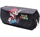 Estuche de lápices Super Mario, ALHX Estuches Escolares, Estuche de Lápices Multifuncional 3D...